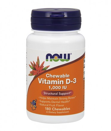 NOW Vitamin D-3 / 1000 IU / 180 Chewables