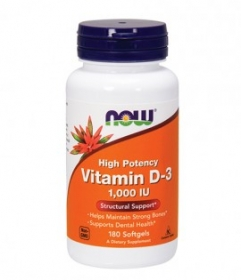 NOW Vitamin D-3 / 400 IU / 180 Softgels