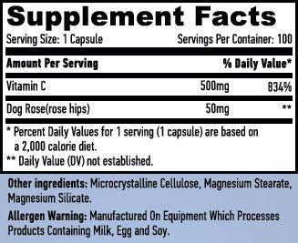 Резултат с изображение за HAYA LABS Vitamin C with Rose Hips 500 mg  supplement