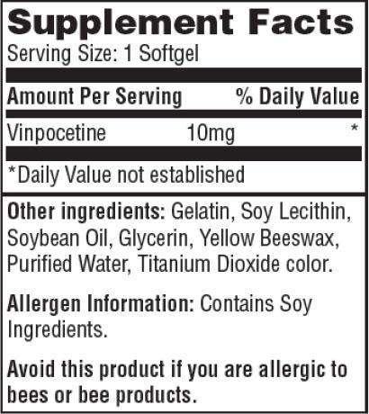 Резултат с изображение за HAYA LABS Vinpocetine 10 mg supplement