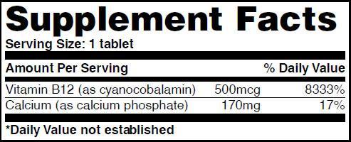 Резултат с изображение за HAYA LABS Vitamin B12 / Sublingual / 500 mcg supplement